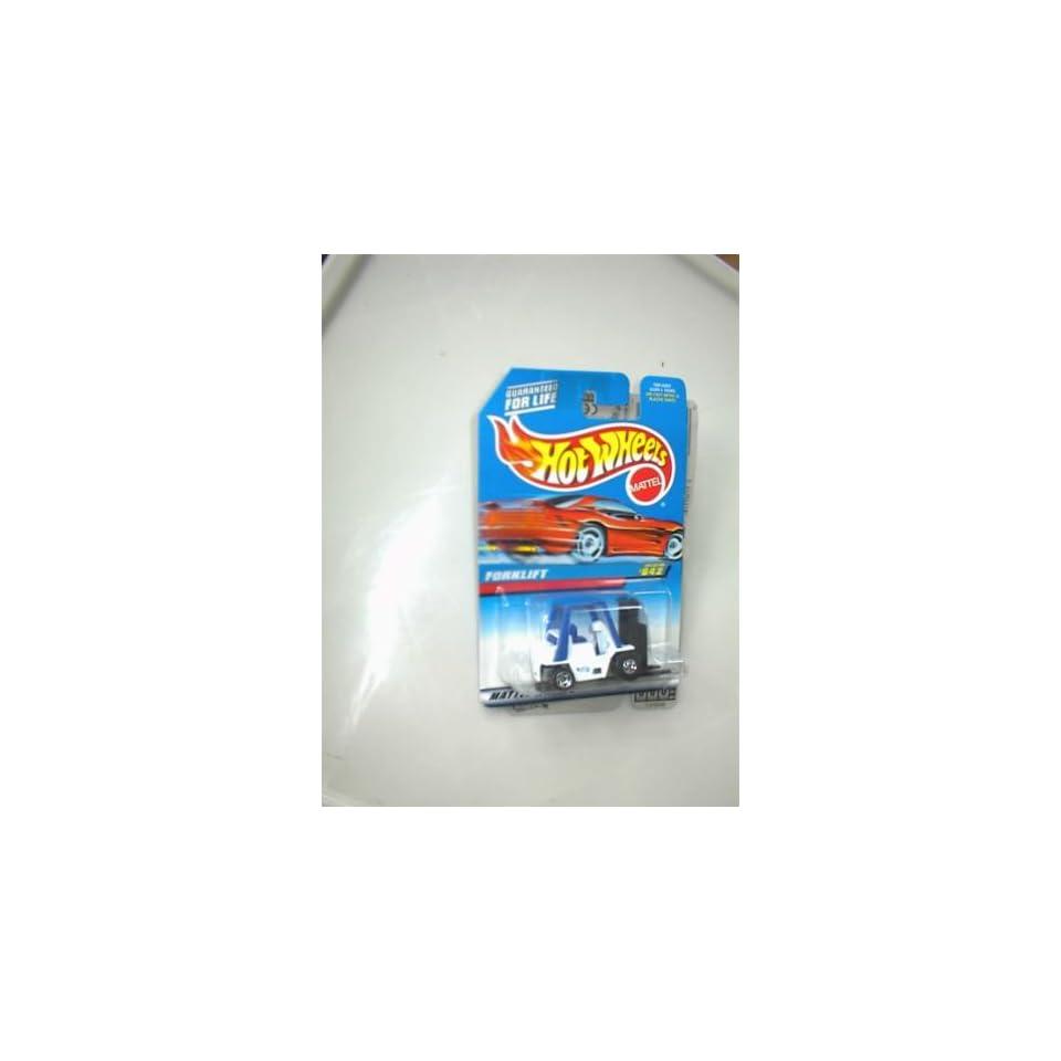 Mattel Hot Wheels 1997 FORKLIFT White, Black/Blue 164 Scale Die Cast Car #642 Collector