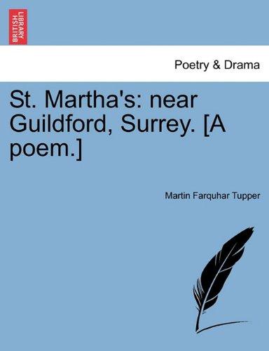St. Martha's: near Guildford, Surrey. [A poem.]