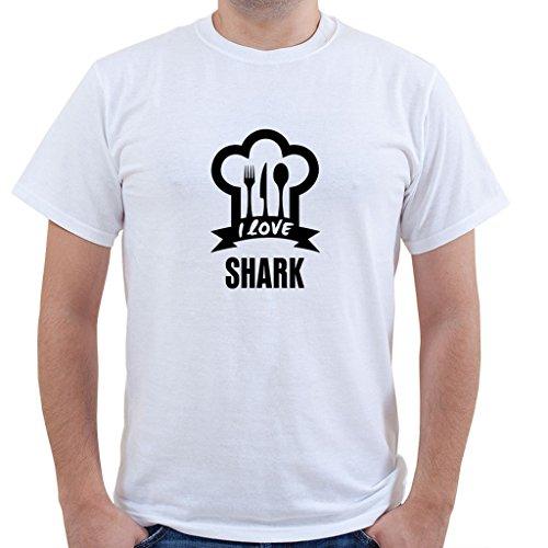 I LOVE SHARK Food Drink Vegetable Unisex Short Sleeve T Shirt
