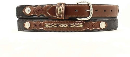 M & F Western Boys' Inset And Concho Adorned Leather Belt Black 28 (Western Belt Boys compare prices)