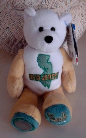 Limited Treasures New Jersey Coin Bear Plush with New Jersey Coin - 1