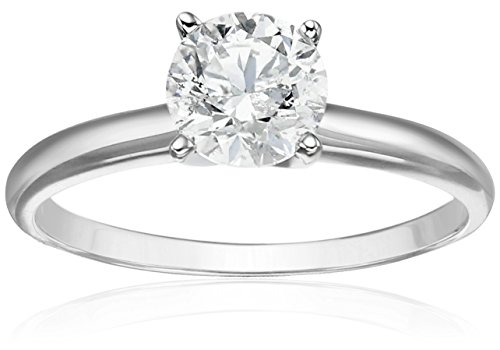 14k White Gold Diamond Solitaire Engagement Ring (1 cttw, H-I Color, I2-I3 Clarity), Size 6