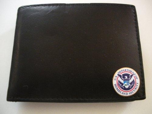 United States Homeland Security Men'S Bi-Fold Italian Leather Wallet