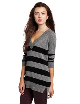 (历史最低)Christopher Fischer Sweater 美女条纹100% 纯羊绒衣 多色 $91.13