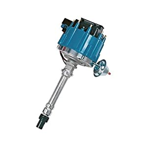 Proform 66941BM Mechanical Lockout HEI Racing Distributor with Steel Gear and Blue Cap for Chevy V8 by Proform