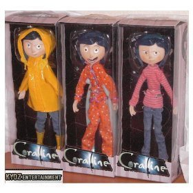 Picture of NECA Coraline Set of 3 Bendable 6 Inch Fashion Doll Figures (Bendable Figures)