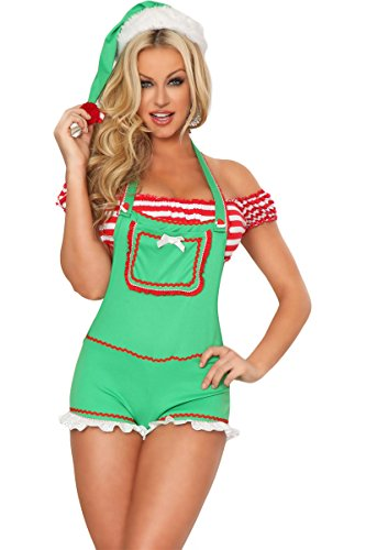 "3WISHES ""Enticing Elf"" Sexy Christmas Elf Costume"