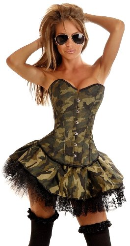 Daisy corsets Women's Army Costume (3 Pack)