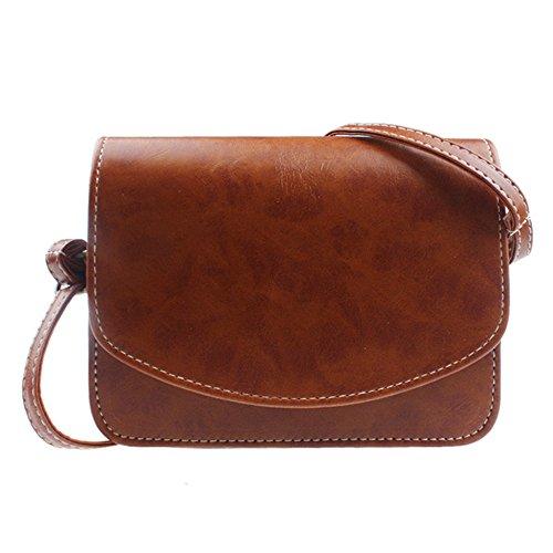 Longra L'imitazione del sacchetto di cuoio della spalla delle donne (Cachi)