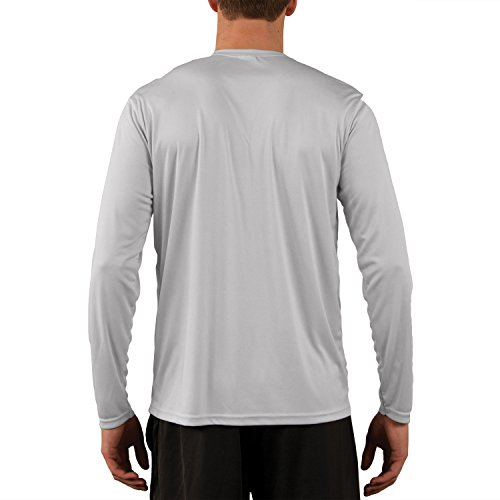 Vapor Apparel Men's UPF Long Sleeve Solar Performance T-Shirt X-Large Pearl Grey