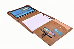 Executive Business Organizer Padfolio, Letter / A4 Paper, for Galaxy Tab S2 9.7, Brown