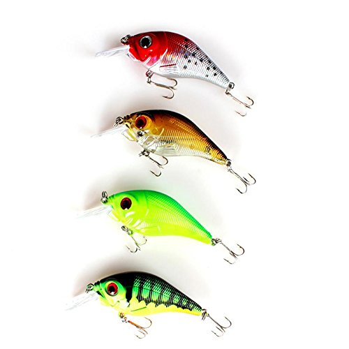 12g Sinking Hard Fish Design Fishing Terminal Tackle Lures Crankbait Crank Bait Bass Treble Hook Random Color