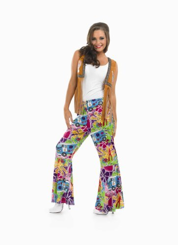 Fun Shack Adult Ladies Hippie Patterned Flares. S to XXL