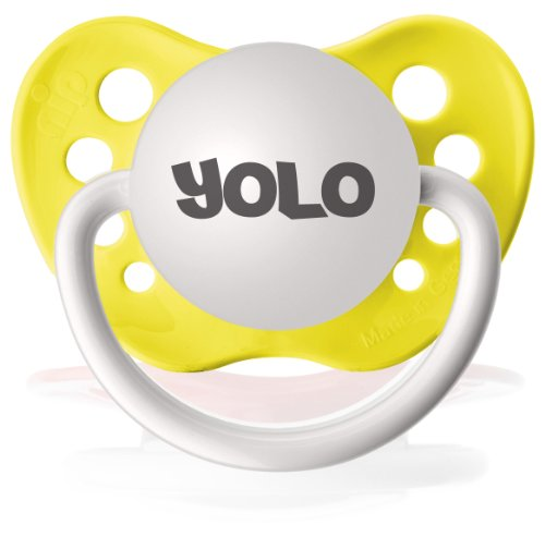 Personalized Pacifiers Yolo in Yellow - 1
