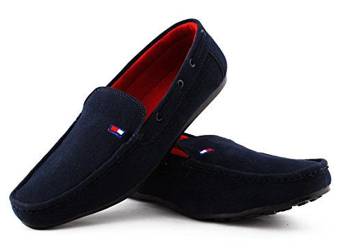COGNAC-Mens-Blue-Synthetic-Loafers