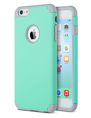 iPhone 6 Plus Case, iPhone 6S Plus Case, ULAK Slim Dual Layer Protective Case Fit for Apple iPhone 6 Plus (2014) / 6S Plus(2015) 5.5 inch Hybrid Hard Back Cover and Soft Silicone -Turquoise/Grey (Electronics I Phone 6 Plus Cases compare prices)