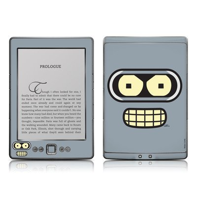 Bender Face Design Protective Decal Skin Sticker - High Gloss Coating For Amazon Kindle 4 (5-Way Controller - 4Th Gen / Release In Oct 2010) front-502936
