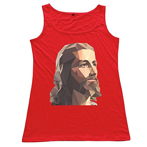 NJ Apparel Women's God Lord Jesus Sportstyle Tank Red Size S