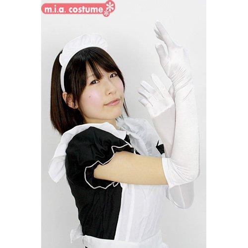 【コスプレ衣装】 サテン手袋 【色:白】(全2色) (フリーサイズ)
