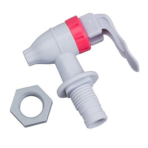 SODIAL(R) Blanc Rouge Robinet d'eau de rechange en plastique Type de pression