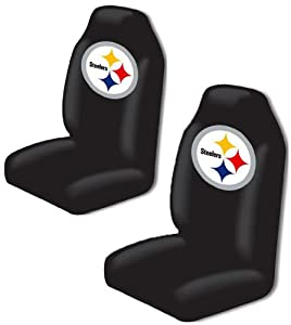Pittsburgh Steelers Auto Seat Covers Universal Fit Set Of 2 Covers by Northwest