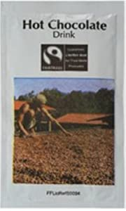 Fair Trade Drinking Choc Sachet Pk100--Fairtrade Instant chocolate powder in individual sachets. Simply add hot water for a warming drink.