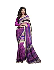 Triveni Lace Bordered Fancy Motif Printed Saree 62013a