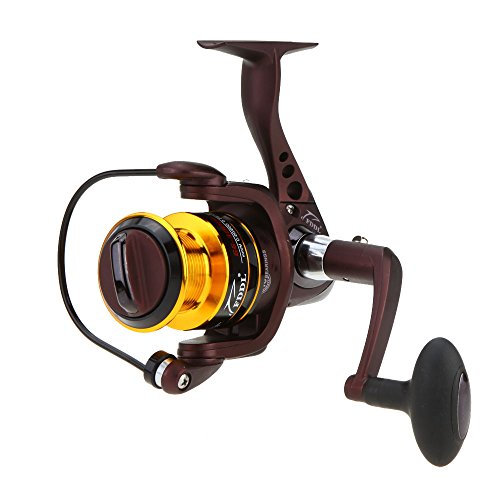 Lixada LED Light Luminous Metal Night High Speed 5.1:1 Spinning Fishing Reel Freshwater / Saltwater Wheel 10+1BB Ball Bearings Left/Right Interchangeable for Sea Lake
