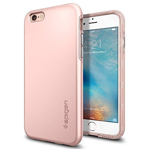 iphone-6s-case-spigenr-thin-fit-hybrid-thin-protection-rose-gold-rugged-dual-layer-premium-matte-fin