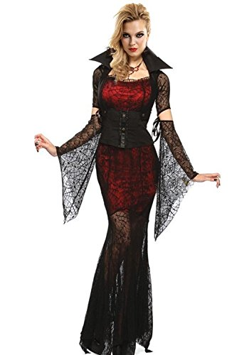 Voglee Deluxe Witch Halloween Vampire Queen Costume Dress Full Set Fancy Party