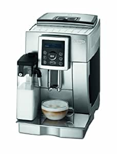 DeLonghi One Touch ECAM 23.450.S Kaffee-Vollautomat Cappuccino (1.8 l, 15 bar, integriertes Milchsystem, IFD System) silber