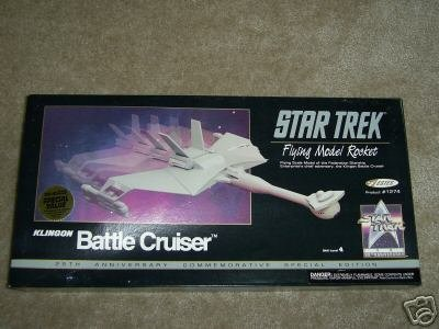 Star Trek Flying Model Rocket Klingon Battle Cruiser