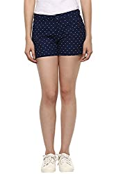 Honey by Pantaloons Womens Cotton Solid Shorts Navy_34