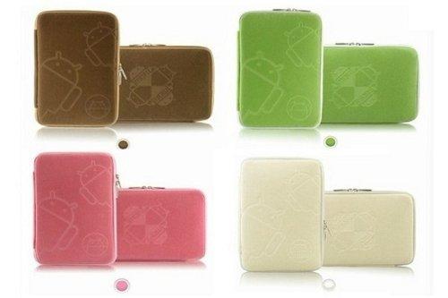 アンドロイドタブレット 7インチ用 アンドロイド カバー アンドロイド ケース (グリーン&低反発素材)