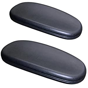 chair armrest arm pads for office and desk chairs 2 piece replacement set. Black Bedroom Furniture Sets. Home Design Ideas