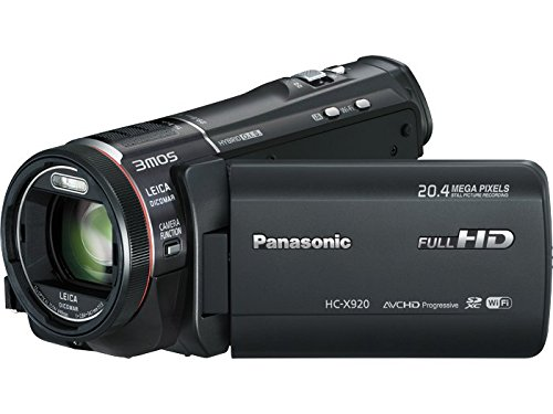 Panasonic HC-X920 3D Ready HD 3MOS Digital Camcorder with Wi-fi (black)