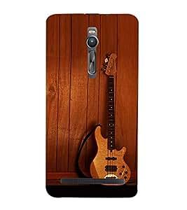 printtech Wooden Guitar Back Case Cover for Asus Zenfone 2::Asus Znfone 2 ZE550ML