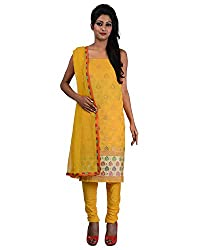 Mumtaz Sons Women's Cotton Unstitched Dress Material (MS111406C,Yellow)