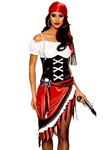 Franco Sexy Womens Pirate Buccaneer Wench Halloween Costume S