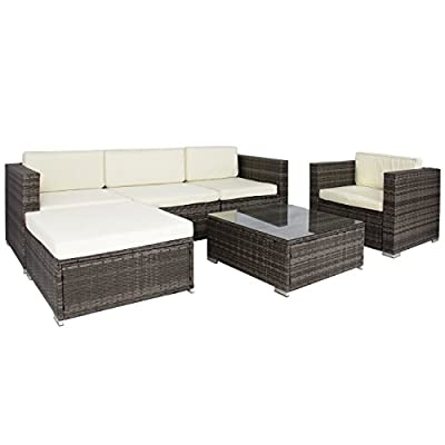 Best ChoiceProducts 6 Piece Outdoor Patio Garden Furniture Wicker