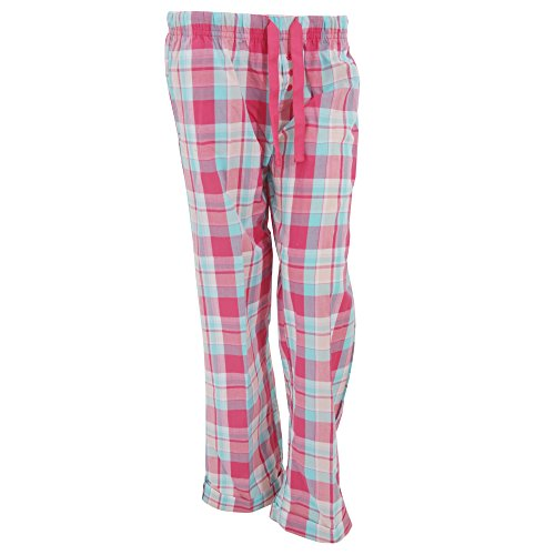 Womens/Ladies Woven Plaid Pattern Lounge Pants/Pajama Bottoms