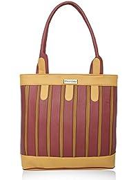 Fantosy Multi Chain Maroon And Beige Handbag|(FNB-381)