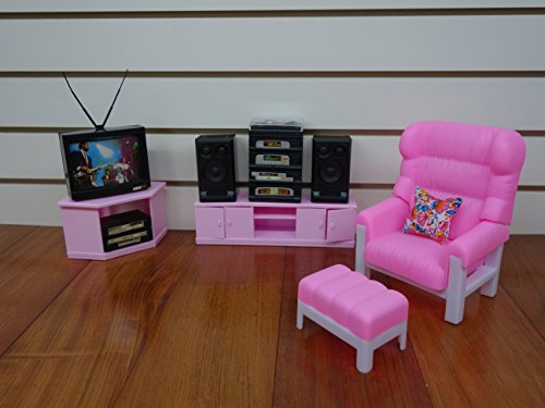 barbie doll size gloria entertainment play set furniture