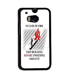 PRINTVISA Quotes Tweet Case Cover for HTC One M8