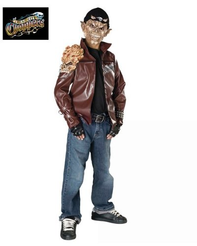 Dead City Choppers Demon Rider Costume: Boy's Size 8-10