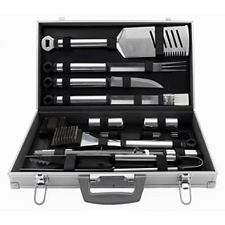 Mr. Bar-B-Q® Stainless Steel Tool Set With Aluminum Case; 21 Pieces/Set