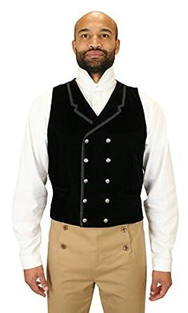Victorian Men's Vests and Waistcoats Historical Emporium Mens Gramercy Velvet Dress Vest $79.95 AT vintagedancer.com