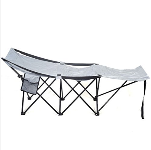 Folding Adventure Camp Bed Portable Durable Camping Hammock Sleeping Cot Steel (Rv Black Tank Tablets compare prices)