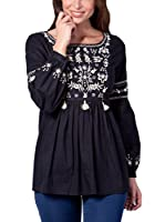 PEACE&LOVE BY CALAO Blusa (Negro)