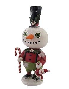 Bethany Lowe Christmas Paper Mache Snowman Figure
